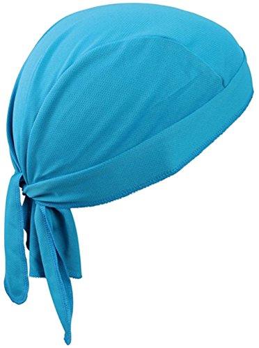 Bandana sportiva ad asciugatura rapida, protegge dai raggi uv, ideale per ciclismo, corsa, bicicletta, moto o per essere indossata sotto al casco, light blue