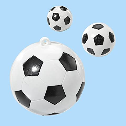 Hobbyfun Lot de 4 mini ballons de foot, 10 mm