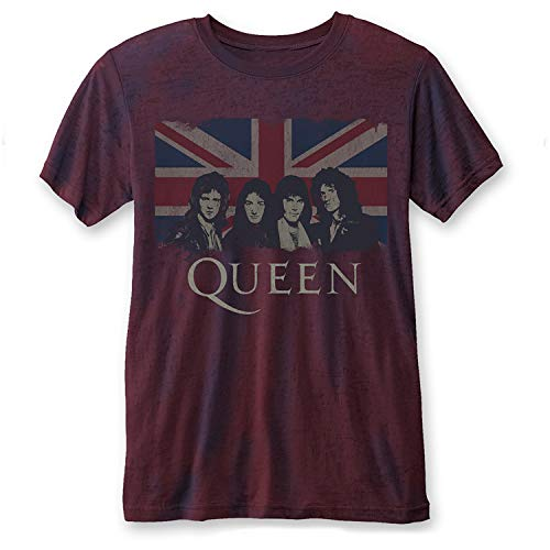 33a484b861fb4 Queen Officially Licensed - T-Shirt Camiseta Vintage T Shirt Union Jack Freddie  Mercury (