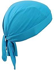 Bandana deportiva transpirable para protegerse del sol y de los rayos ultravioleta, sirve como gorro o gorra para correr, para la bicicleta, para la moto o como pañuelo para utilizar debajo del casco , azul claro