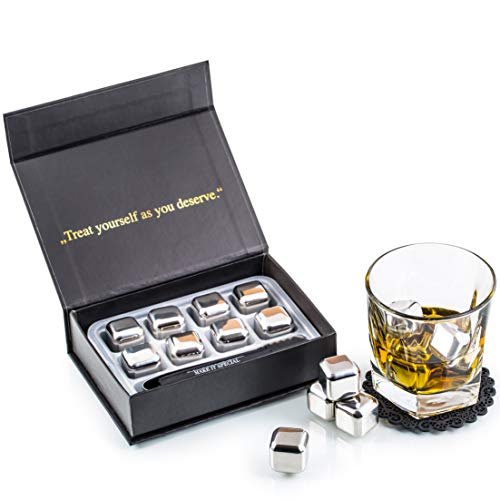 Exclusivo Whisky Piedras Set de Regalo de Acero Inoxidable - Alta Tecnología...