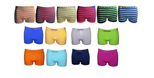 6 Boxershorts Retro Pants Mikrofaser Unterhosen Junge Boy Kinder (116/122)