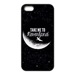 Peter Pan Cartoon HD Apple iPhone 5/5s TPU Rubber Sides Case Cover
