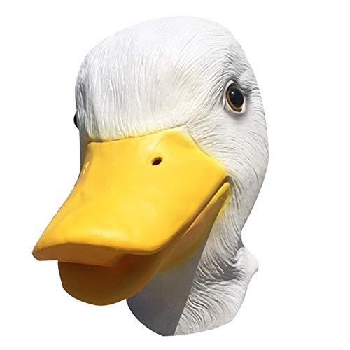Halloween Humoristisch Lustig Ente Maske mit Nasenlöchern, Halloween Kostüm Tiermotivparty für Erwachsene, Fasching Kopfmaske, Direct Factory Pricing, Zertifiziertes - Entlein Kostüm