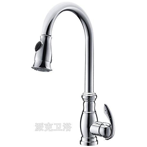Küche oder Badezimmer Waschbecken Mischbatterie Wasser Edelstahl zu waschen Tippen Gerichte in einer Wanne Wasser Warmes und kaltes Gemeinsamen zu drehen, um den Wasser S nach unten biegen Rohr, um - Edelstahl Unten Biegen Sie Nach