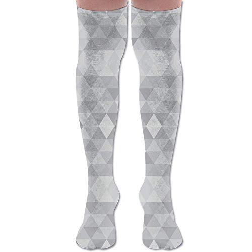 Gped Kniestrümpfe,Socken 50 Shades of Grey Triangles Fabric (391) Athletic Tube Stockings Women's Men's Classics Knee High Socks Sport Long Sock Length - 50 Shades Of Grey Lustige Kostüm