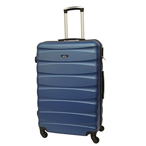 Hartschalen Reisekoffer QTC MAILAND A Trolley Case L Reise Tasche Koffer (L (68 cm ), Blau) (Trolley-reise-tasche)