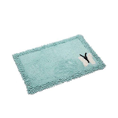 Baumwolle Chenille Teppich Matten Schlafzimmer Streifen Fußmatten Badezimmertür saugfähigen Pads (Color : BEIGE, Size : 45CM*120CM) - Chenille Streifen-teppich