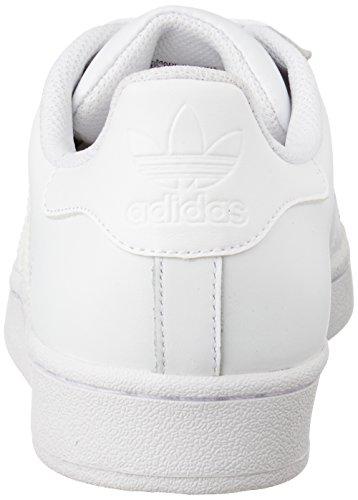 adidas Superstar Foundation, Unisex-Erwachsene Sneakers, Weiß (Ftwr White/Ftwr White/Ftwr White), EU 44 - 2