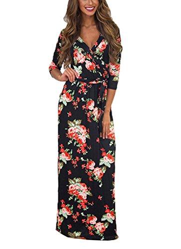 579e6b4096ee Sommerkleid Damen Partykleid Lang High Waist Schulterfrei Damen Kleider  Sleeveless Beach Kleid Elegant (X-