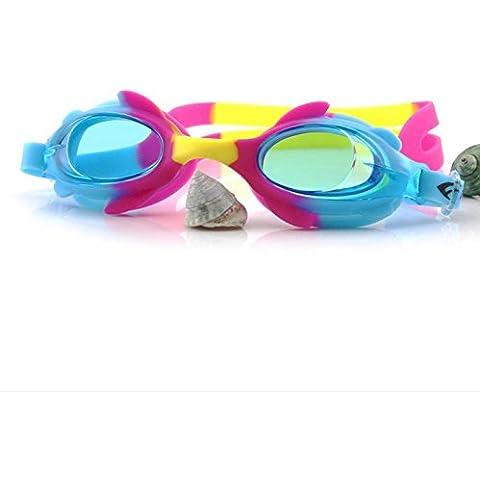 opel-r Nuevos niños gafas de Deportes, Material Impermeable supervisados Gafas de buceo antivaho espejo de PC, 6