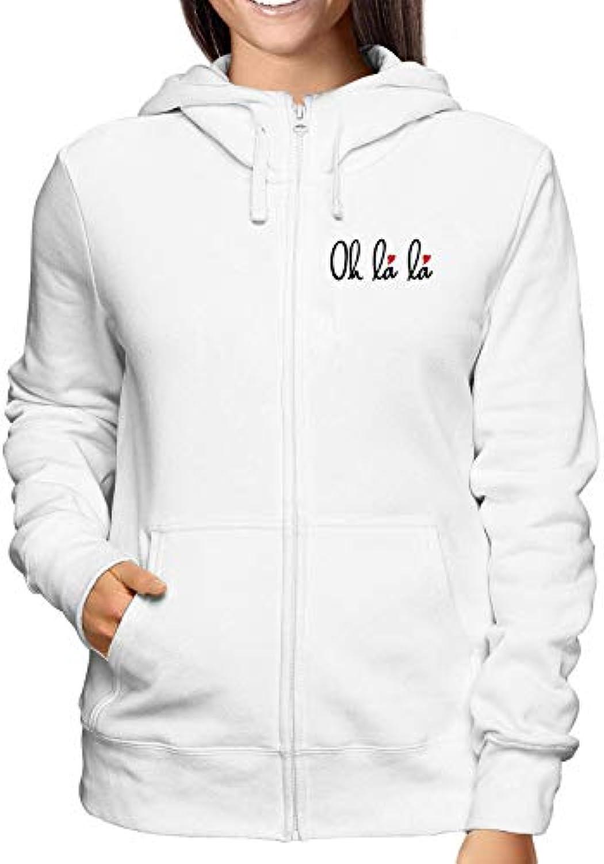 Sweatshirt donna Hoodie Zip Weiss OLDENG00201 OH LA LA Hearts French Word  Art with Hearts LA 6e8143 694ec7794b06