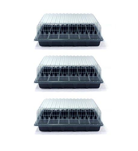 Value pack di 3 propagatori standard di britten & james®. contiene tre vassoi di semi, tre inserti a 24 celle e tre coperchi trasparenti. ora è disponibile direttamente da britten & james®
