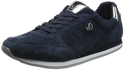 S.oliver 23630, Low Athletic Sneakers Blue (azul Marino)