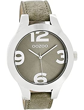 Oozoo Damenuhr mit Lederband 42 MM Grau/Grau C7592