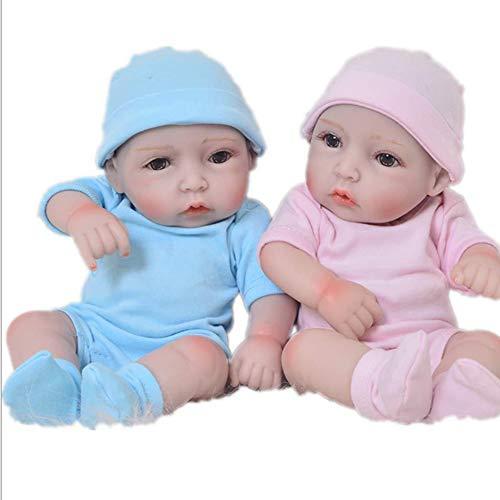 NACHEN Twin Reboen Doll 26cm Simulation Baby Cute Big Eyes Birthday Xmas Gift Dolls,color1,26cm