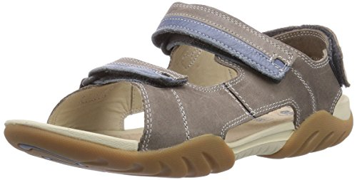 Clarks Mirlo Air Jnr, Jungen Sandalen, Grau (Grey Leather), 34 EU