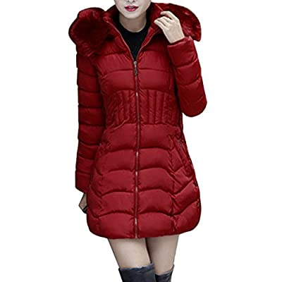 Damen Daunenjacke,TUDUZ Damen Jacke Lang Steppjacke Winterjacke Winter-Mantel mit Kapuze Trenchcoat-Bitte kaufen Sie eine Nummer größer als üblich