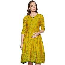 CEEMAYA Women's Knee Length Maternity Dress