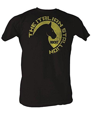 Rocky - Wild Stallions Men's T-Shirt in Kohle Coal