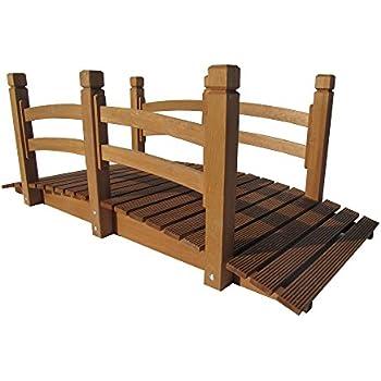 Garten Teich Brücke Holzbrücke 150x67x55 Cm Bis 150 Kg Amazonde