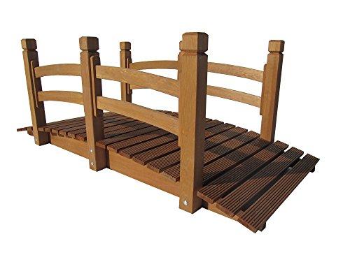 Garten Teich-Brücke Holzbrücke, 150x67x55 cm bis 150 kg