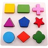 youmiya bebé de madera Junta Puzzle Aprendizaje Juguete Educativo Geometría Puzzle Montessori de Madera Puzzle Juguetes C