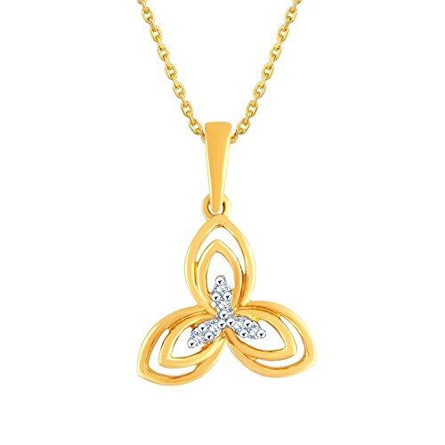 Giantti 14carats Diamant Pendentif Femme Collier (0,03CT, VS/Si-clarity, Gh-colour)