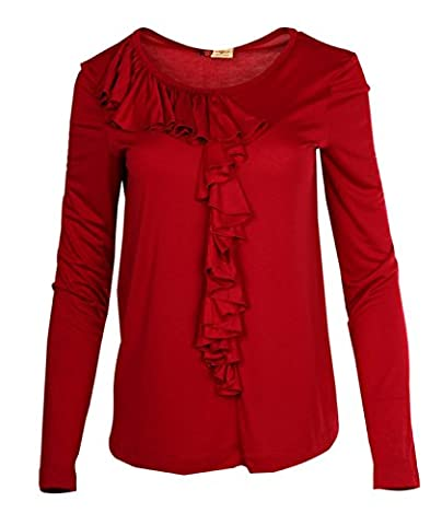 Mariella Burani Femmes Blouse Rouge 52704JV06, taille:36