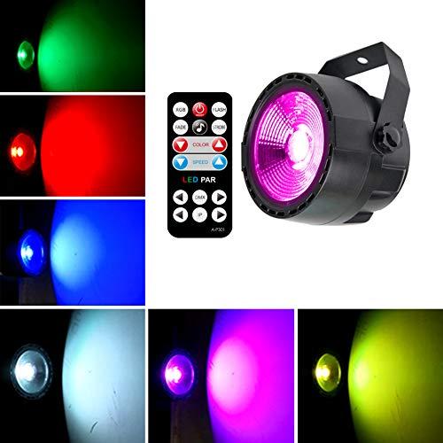 KOOT LED PAR DJ Licht Bühnenlicht Party Licht Disco Licht COB LED DMX Steuerung mit Fernbedienung für Bühnenbeleuchtung Parteien