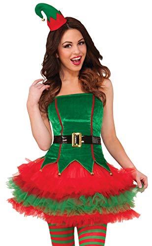 Kostüm Elf Women's - Sassy Elf Women's Christmas Costume Medium/Large