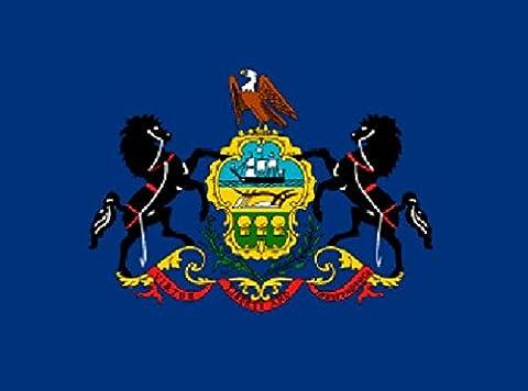 Pennsylvania Flag 5ft x 3ft Large - 100% Polyester -