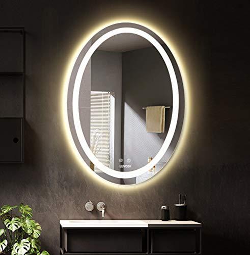 LUVODI Espejo Baño Moderno Iluminación LED Espejo