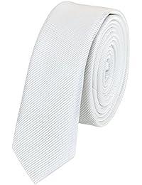 Étroit Cravate de Fabio Farini en blanche 3cm Largeur