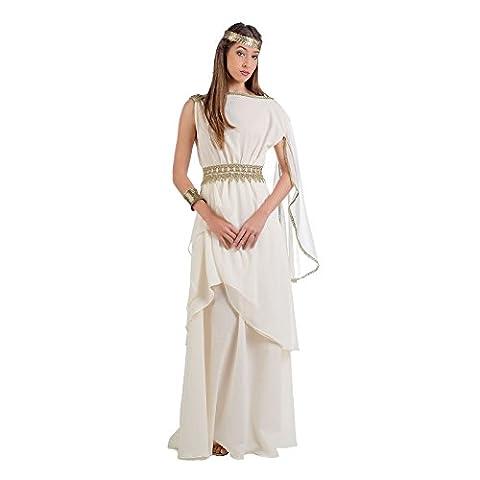 Griechische Prinzessin Kostüm Damen Kleid mit Schärpe creme - S (Griechischen Frau Kostüm)