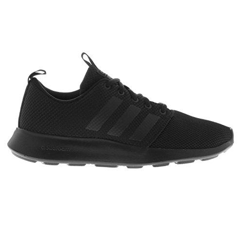adidas Cloudfoam Swift Racer Trainers Mens Black Athletic Sneakers Shoes (UK11) (EU46) (US11.5)
