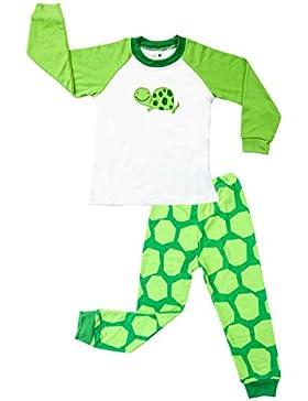 Little Sorrel Jungen Mode Schlafanzüge lang Zweiteiliger Schlafanzug 2-7 Jahr Pyjama