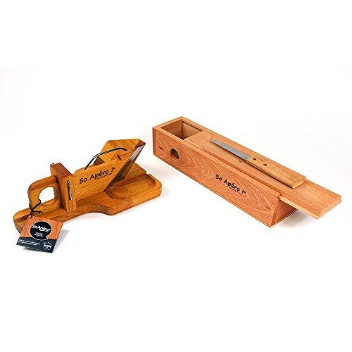 Guillotine à Saucisson ET Cave à Saucisson – So Apéro ! – Pack 2 en 1 avec de nombreuses fonctionnalités – Fabrication 100% française en bois naturel