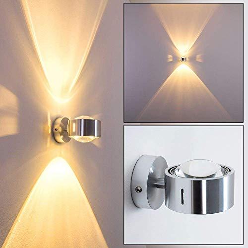 Wandlampe Sapri - Geradlinige Wandleuchte mit Schlitzen an der Seite - Wandspot aus Metall und Linsen aus Glas - Wand Lampe mit tollen Lichteffekten