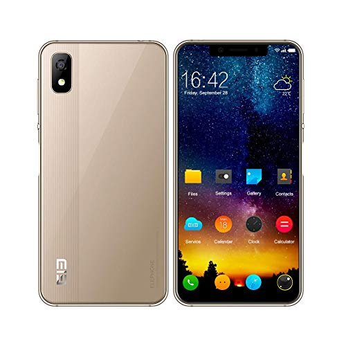 Elephone A4 Smartphone 4G 5.85 pollici 19:9 Schermo Android 8.1 Quad Core 1.5GHz 3G RAM 16G ROM Face Recognition Fingerprints OTG Camera for Mobile Phone (oro)