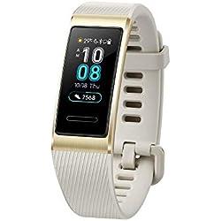 Huawei Band 3 Pro Doré - Bracelet Connecté (GPS, Ecran tactile, Rythme cardiaque, Résistance 5ATM, autonomie jusqu'à 14 jours)