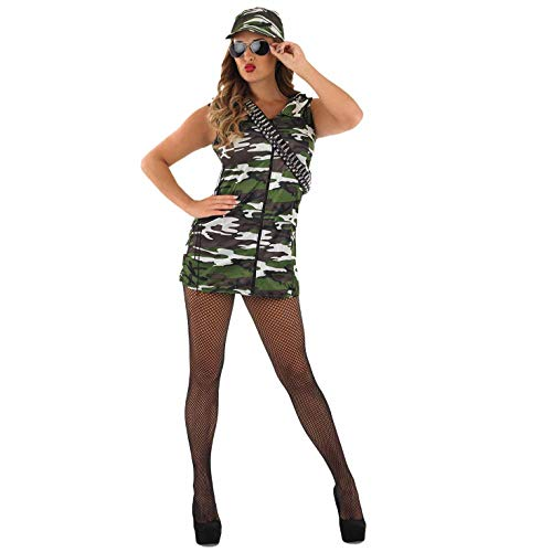 Fun Shack Damen Costume Kostüm, Army Camo, Größe S