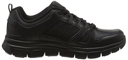 Skechers Flex Advantage, Chaussures de Running Compétition Garçon Noir - Black (Bbk - Black)