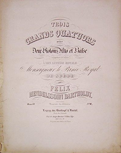 Streichquartette für 2 Violinen, Bratsche und Violoncello. - 5 Werke zusammen in 3 Bänden.