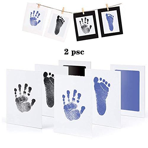 """Baby Fußabdruck Handabdruck Set /""""CleanTouch/"""" Stempelkissen Abdruckset Farbe"""