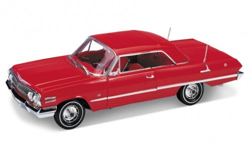 welly-118-chevrolet-impala-1963-hard-top-red