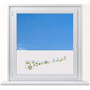DD Dotzler Design 6416-21 Sichtschutz-folie Winter Fenster Milchglas Weihnachten Nikolaus Sterne Schneeflocken Weihnachtsmann Fensterbild