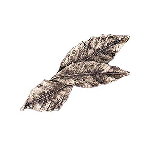 Set von 3 Bronze Farbe Blatt-Form-Retro- Art-Haarnadeln (Sticks Haar Markieren Sie)