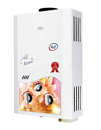 Power Pye 6 litre Copper Instant Gas Water Heater Geyser (PinkFlora)