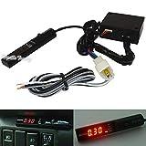 FidgetGear - Temporizador Universal APEXI Turbo para NA y Turbo Black Pen Control JDM con Pantalla LED roja